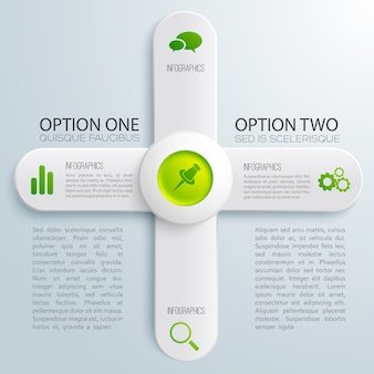 Infografica business design concept