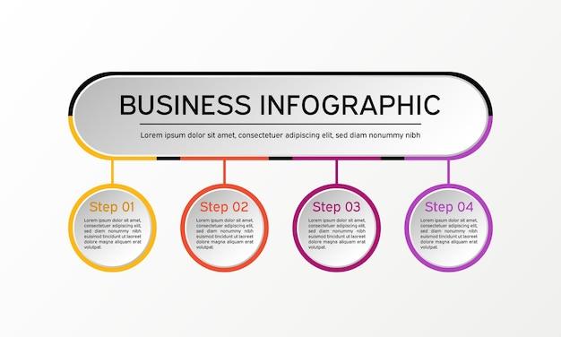 インフォグラフィック。ビジネス図、プレゼンテーション、チャート。