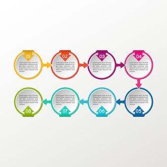 인포 그래픽. 비즈니스 다이어그램, 프리젠 테이션 및 차트.