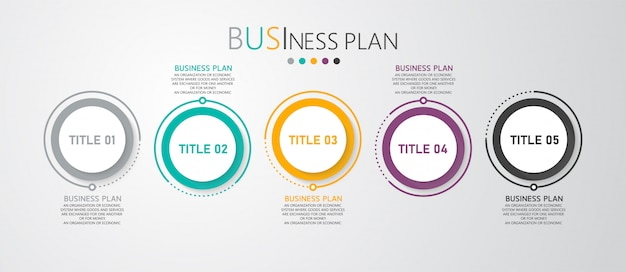 Infographic business and educational diagrams follow the steps that are used to present the presentation along with the study.
