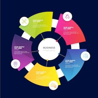 インフォグラフィックビジネスグラデーション