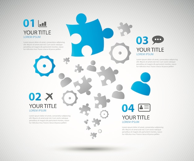 Infographic business options brochure vector illustration
