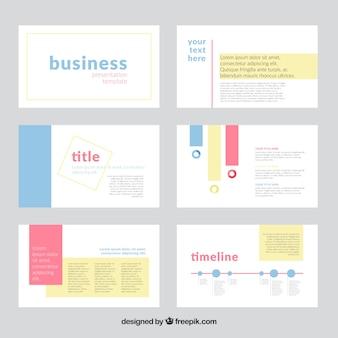 Infographic business presentation