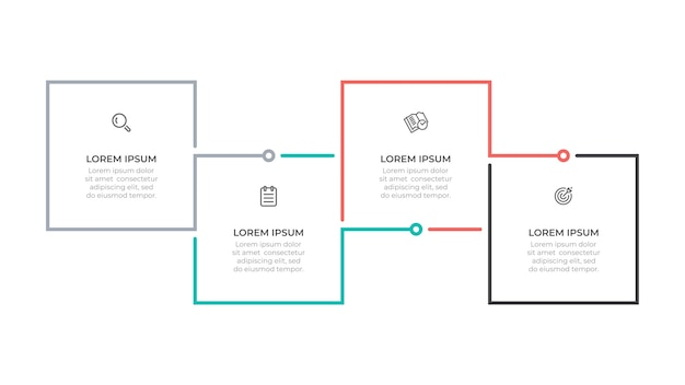 Infographic business process template