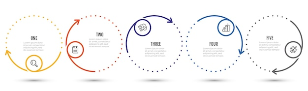 インフォグラフィックビジネスプロセステンプレート