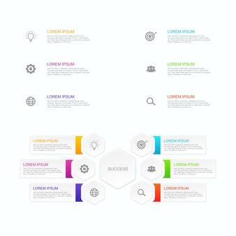 Инфографический бизнес-шаблон вектор может быть адаптирован к вашим потребностям