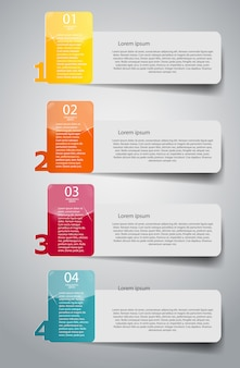 Infographic business template with four steps