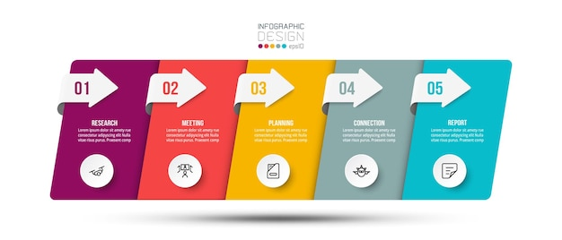 단계 또는 옵션 디자인 인포 그래픽 비즈니스 템플릿입니다.