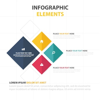 Infographic business template Free Vector