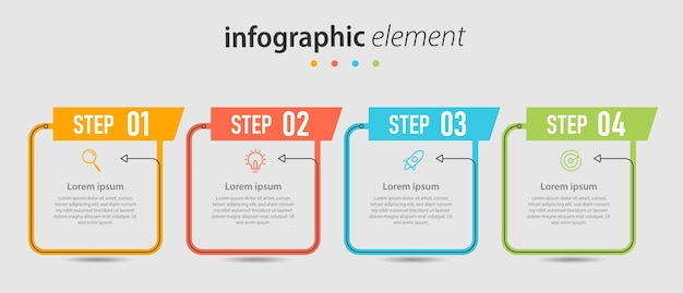 インフォグラフィックビジネステンプレートタイムラインプレゼンテーション