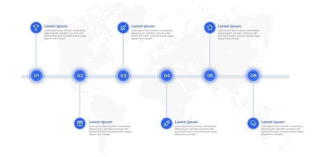 6 가지 옵션의 인포 그래픽 비즈니스 주형