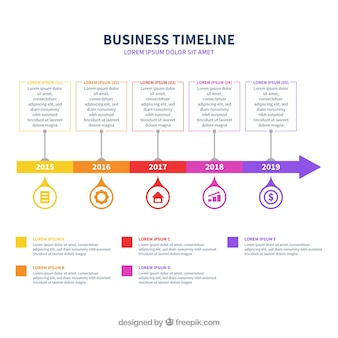 Infographic business timeline concept