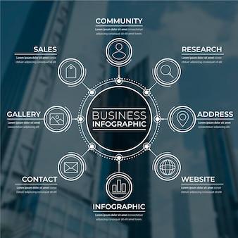 Infografica per affari con immagine