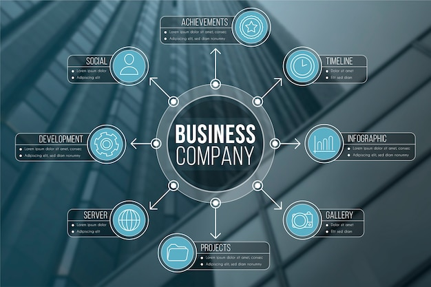 Infographic for business with photo