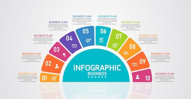 インフォグラフィックは、プロセス、プレゼンテーション、レイアウト、バナー、グラフ、レイヤーに使用できます