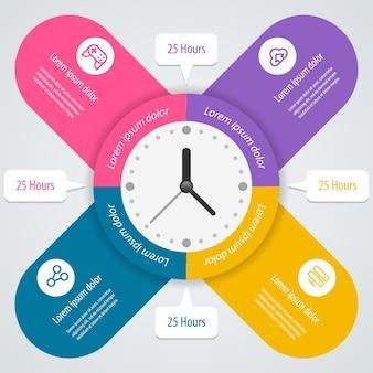 Инфографика. может использоваться для макета рабочего процесса, баннера, диаграммы, параметров числа, параметров повышения, интернета. .