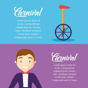 Infographic of carnival circus concept