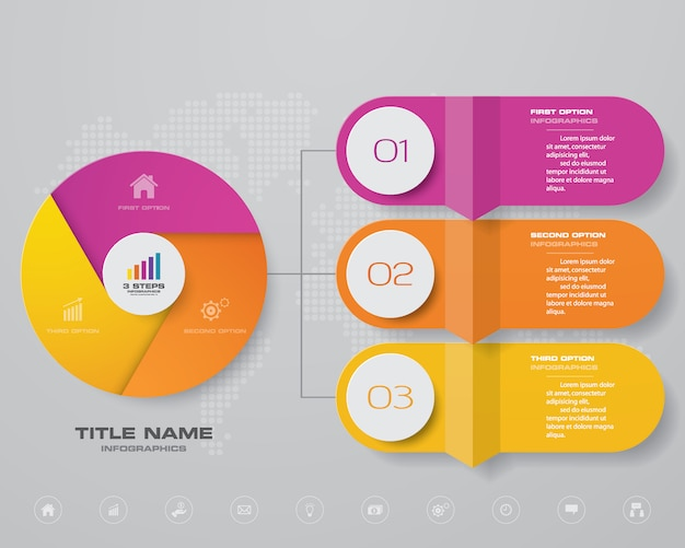 Infographic chart design element