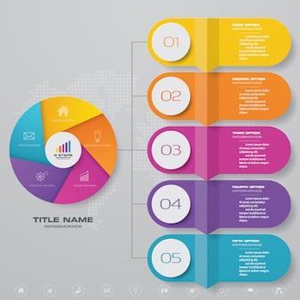 Infographic chart design element
