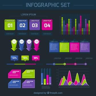 Grafici infografica set