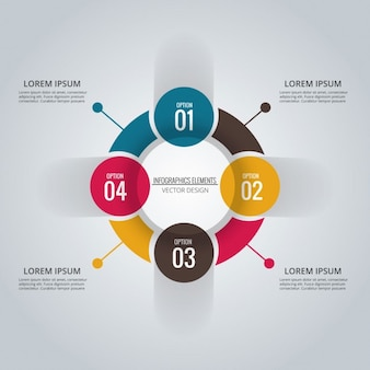 Infographic circle with four options