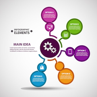 Infographic Colorful Circle Elements