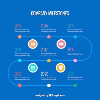 도 infographic 회사 이정표 개념