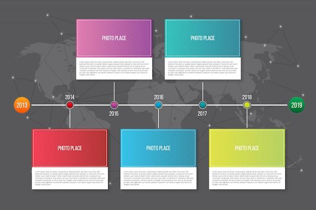 Infographic company milestones timeline template.
