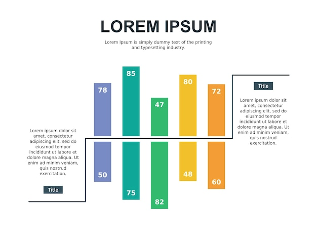 인포 그래픽 비교 및 통계 슬라이드 템플릿
