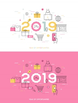 Infographic concept 2018 year of opportunities