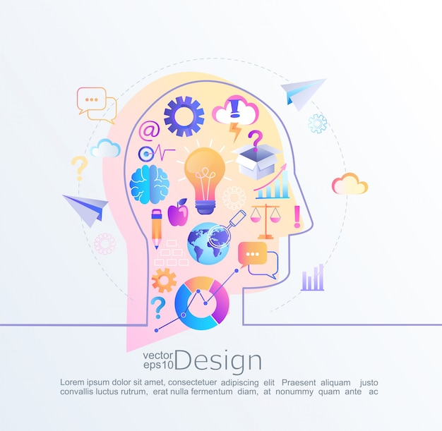 Infographic concept of big inspiration in our brain