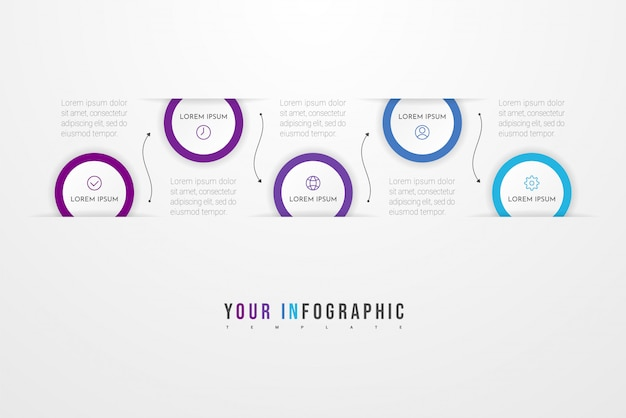 Infographic concept with options, steps or process.