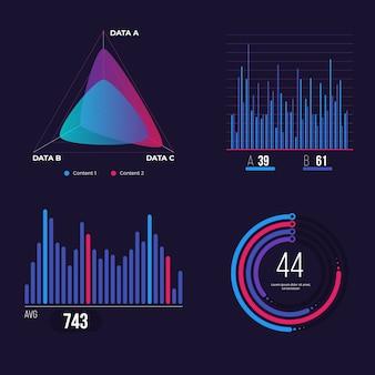 Infographic dashboard element set