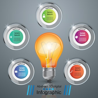 Infographic design and bulb