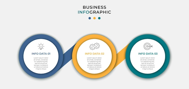 Infographic design business template with icons and 3 options or steps