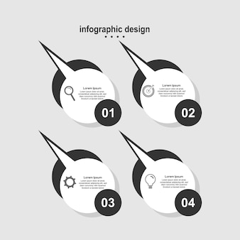 Infographic design chat modern design business