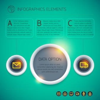 インフォグラフィックデザインコンセプト