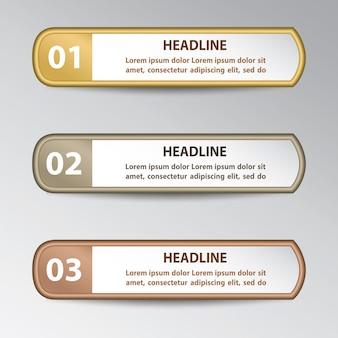 インフォグラフィックデザイン要素
