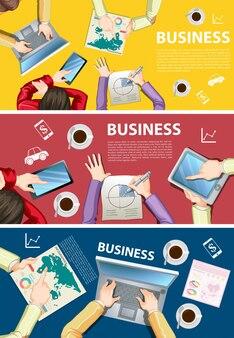 Инфографический дизайн для деловых людей, работающих