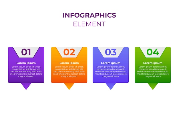 Infographic design four step infographic design