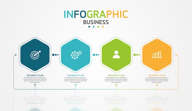 Infographic design illustration for modern processes in the form of presentations, banners, graphs, business and educational applications