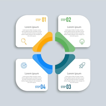 Infographic design label template business concept