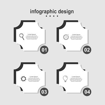 Infographic design modern design business