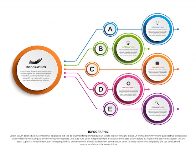 Infographic design organization chart template.
