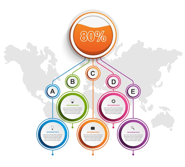 Infographic design organization chart template.
