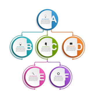 Infographic design organization chart template