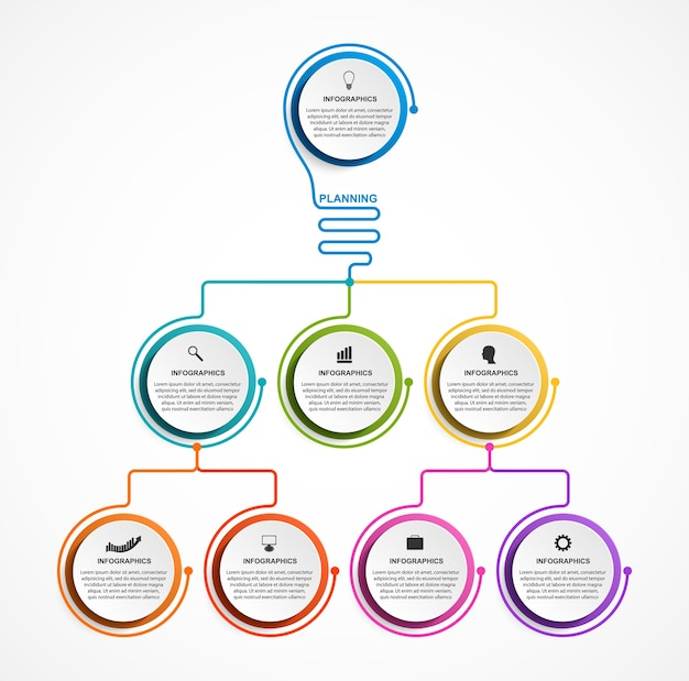 Infographic design organization chart.