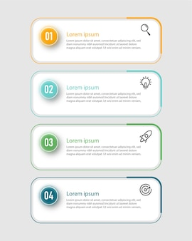 Infographic design presentation business infographic template with 4 options