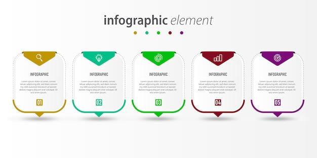 インフォグラフィックデザインプレゼンテーションテンプレート
