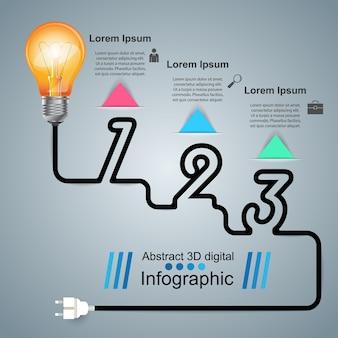 インフォグラフィックデザインテンプレートとマーケティングアイコン